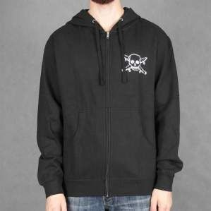 BLUZA FOURSTAR F16 ZIP HOOD S.PIRATE BLK