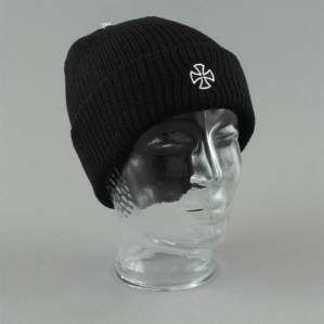 CZAPKA INDEPENDENT CROSS RIBBED BEANIE BLK