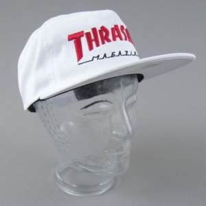 CZAPKA THRASHER TWO TONE MAG LOGO WHT/RED