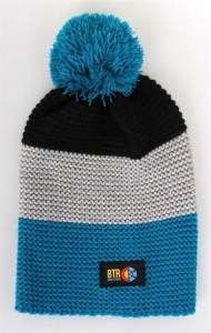 BORN TO RIDE CZAPKA ZIMOWA POMPON BLK/GREY/ROYAL