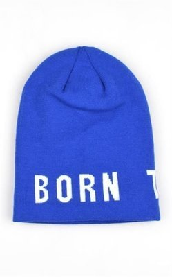 BORN TO RIDE CZAPKA ZIMOWAJACQUARD KOMIN BLUE