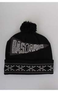 CROOKS & CASTLES CZAPKA ZIMOWA POM BASTARDS BLACK