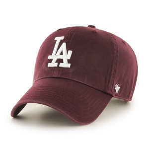 CZAPKA Z DASZKIEM 47 brand MLB Los Angeles Dodgers CLEAN UP maroon