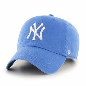CZAPKA Z DASZKIEM 47 brand MLB New York Yankees Clean Up blue