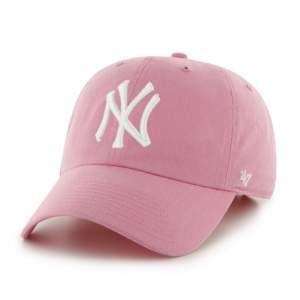 CZAPKA Z DASZKIEM 47 brand MLB New York Yankees Clean Up pink