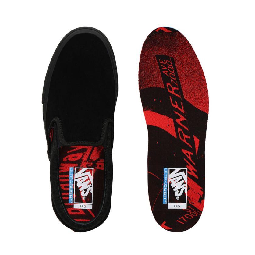Buty męskie Vans x Baker Slip On Pro black red (VN0A347VV0H)