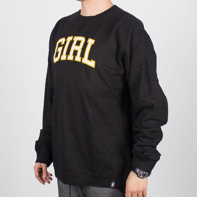 Bluza Girl Sp18 Crew Girl Arched Blk