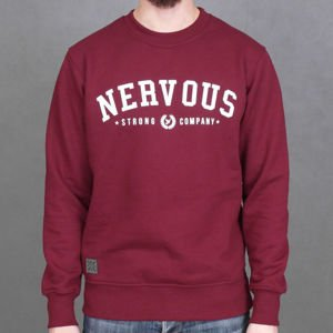 Bluza Nervous Champ Fa16 Back To Maroon