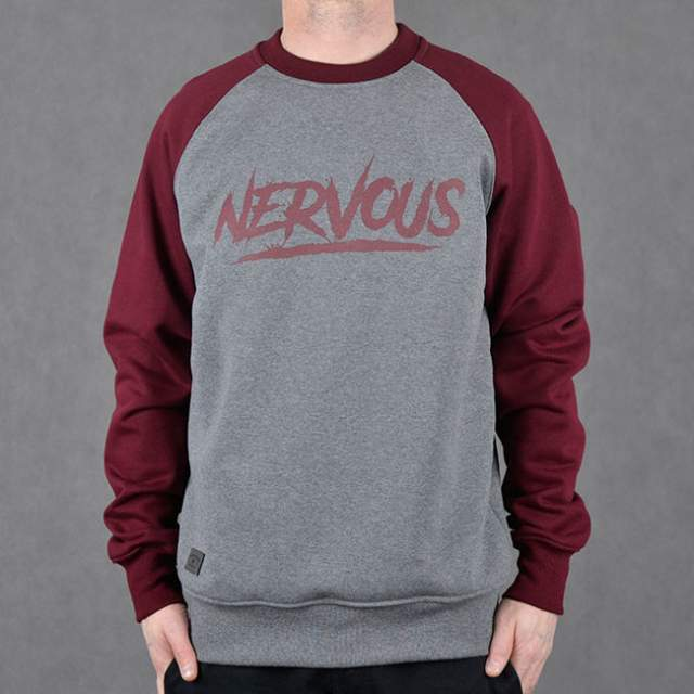 Bluza Nervous Crew Sp17 Scratch gre/mar