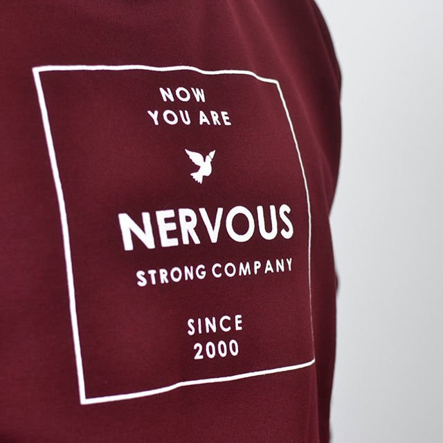 Bluza Nervous Crew Sp18 Lightbox Maroon