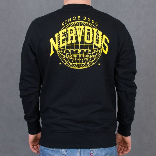 Bluza Nervous Crew Su17 World Blk
