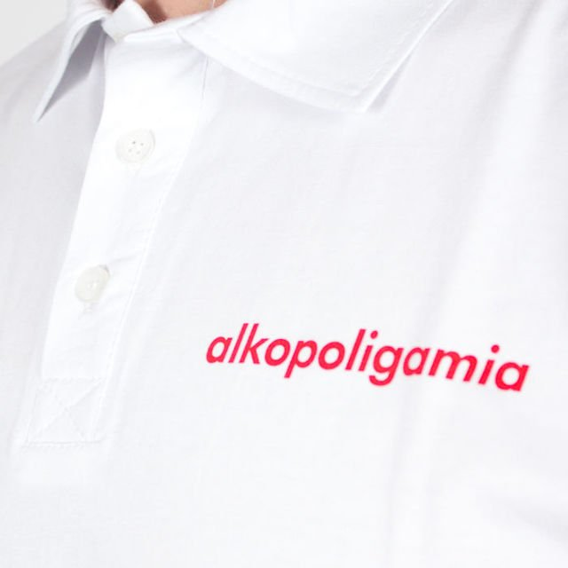 Koszulka Alkopoligamia Sp18 Polo Tapes Wht