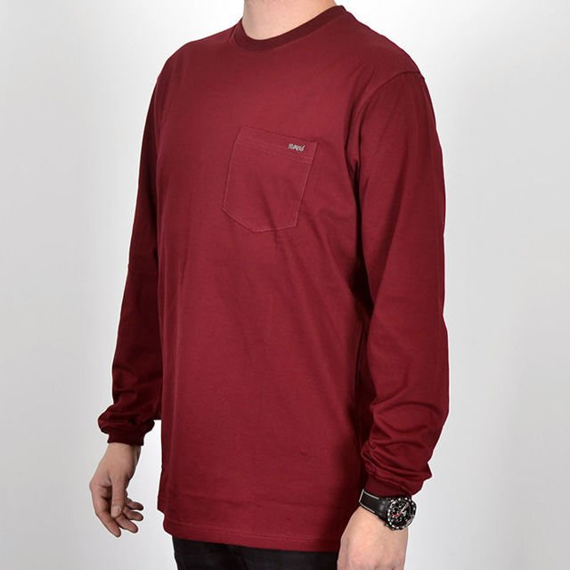 Koszulka LS Nervous Sp18 Pocket maroon