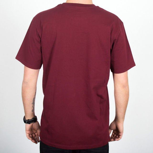 Koszulka Turbokolor ss18 Champange pocket burgundy