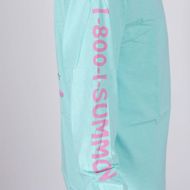 Koszulka Welcome LS Hotline teal/pink/blk