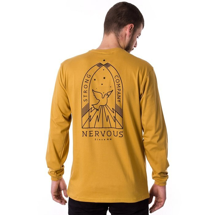 Longsleeve męski Nervous FA19 Nightly mustard