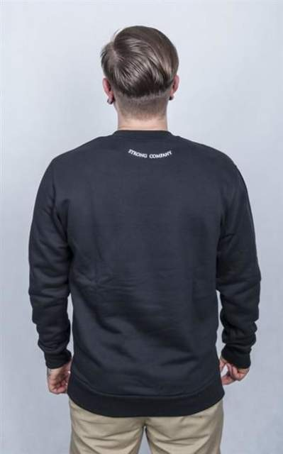 NERVOUS STRONG COMPANY BLUZA BEZ KAPTURA FA15 STREET BLACK